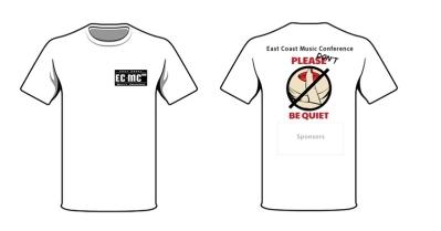 Tshirt White - ECMC-PleaseDontBeQuiet2_web